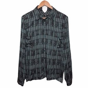 Theyskens' Theory Barger Silk Button Down …